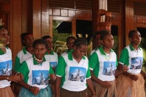 Anak-anak Asrama Putri Salus Populi Timika