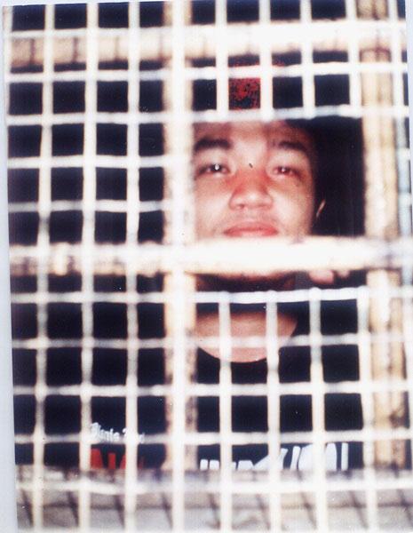 Bimo Petrus di dalam tahanan. Foto: anonim