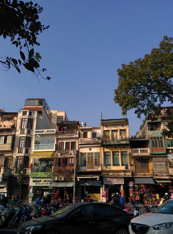 Gedung-gedung sintal di Hanoi